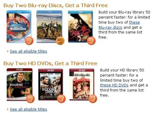 Oferta Amazon HD-DVD Blu-Ray